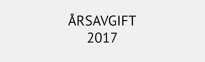 Årsavgift 2017