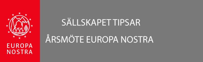 Europa Nostras årsmöte flyttat till efter sommaren!
