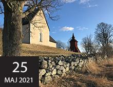 Visning av restaureringen av bogårdsmurar vid Frösunda och Markims medeltida kyrkor